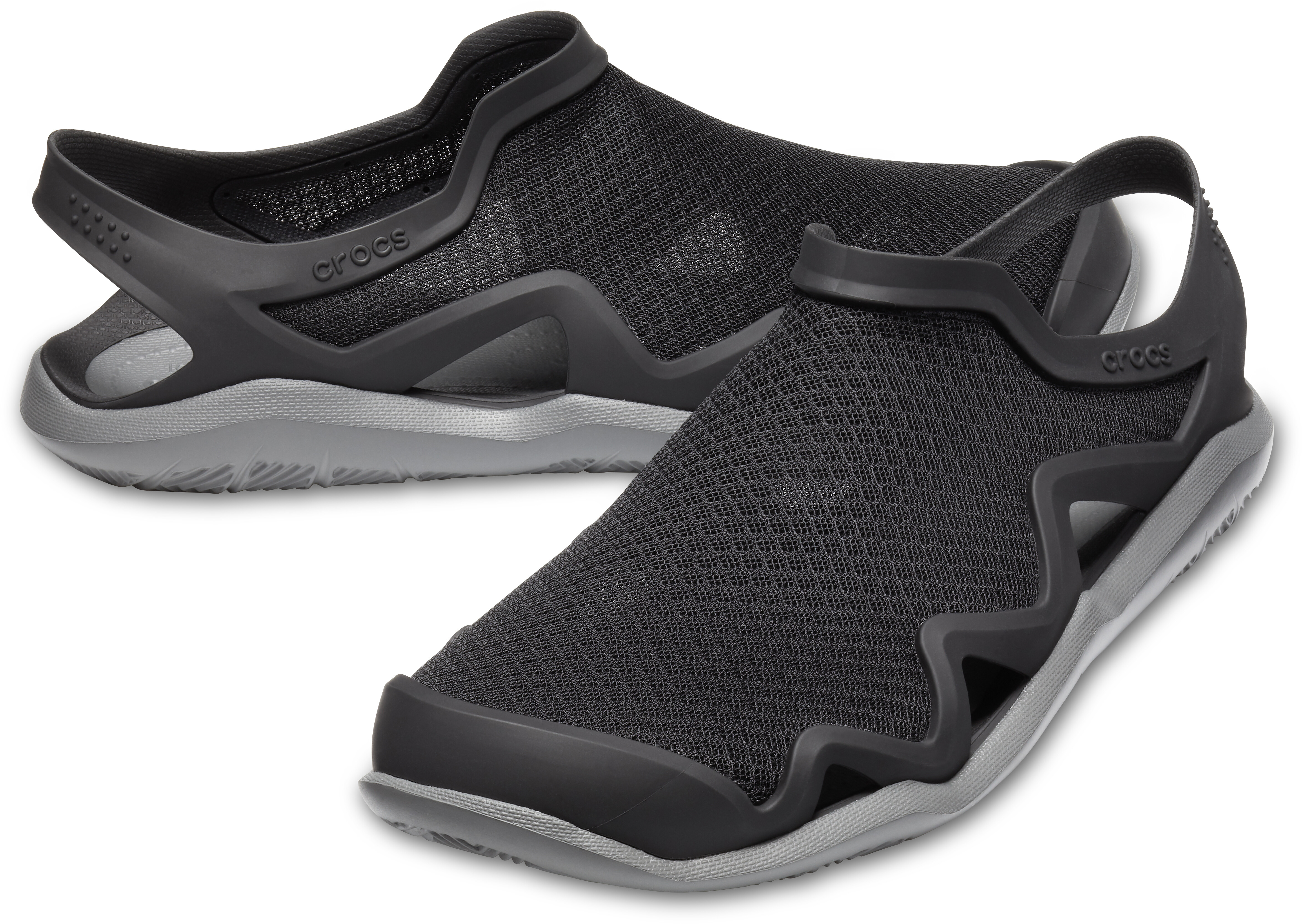 78dc581d78d8 Crocs Swiftwater Mesh Wave Sandals Men black slate grey at Addnature ...